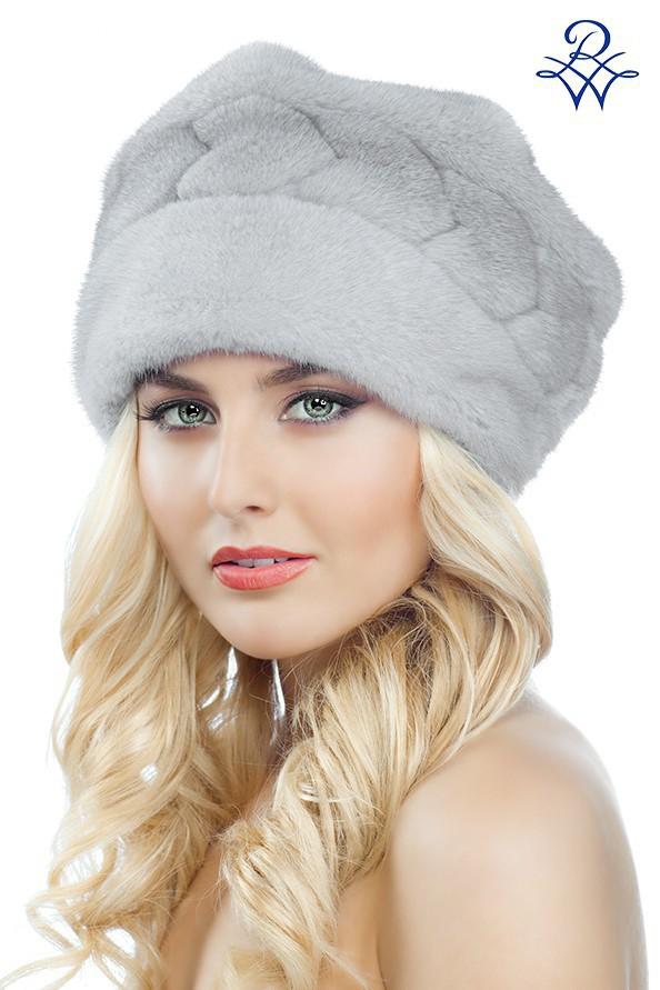 Женская меховая шапка Норка 2025  Женская шапка из меха 2025  Головной убор  меховой Натуральный 2025 3aa7ad064554a