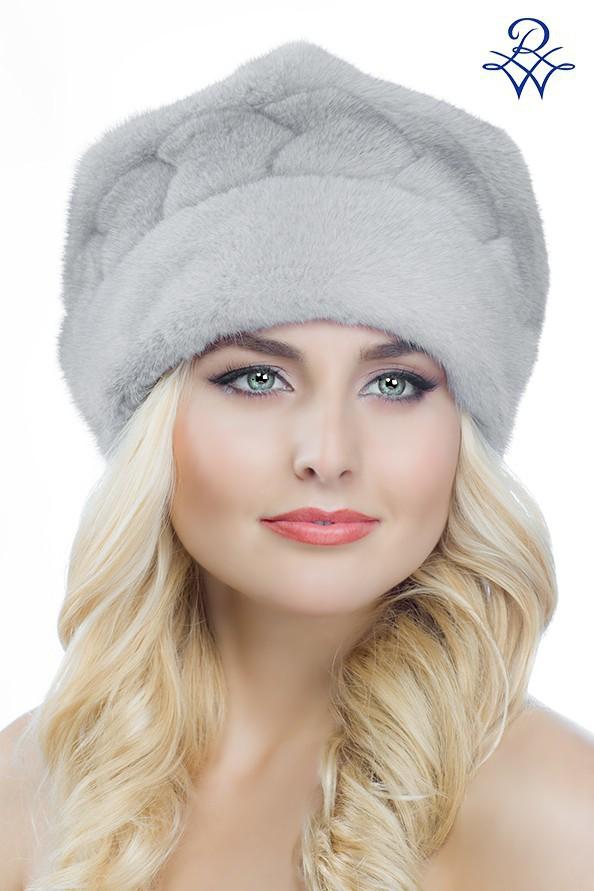 Головной убор меховой женский 2025 шапка Лана норка сапфир. Артикул  2025. Женская  меховая шапка Норка 2025 e7e9b92b152d0