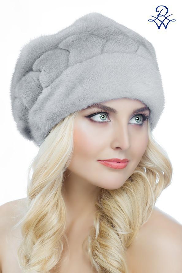 Головной убор меховой женский 2025 шапка Лана норка сапфир - купить ... 97695f11935f4