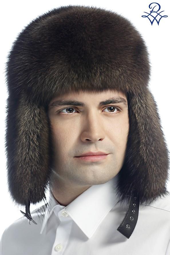 Головной убор меховой мужской 1113 шапка ушанка фишер натуральный - купить  в Москве ... 18b5c2a42a893