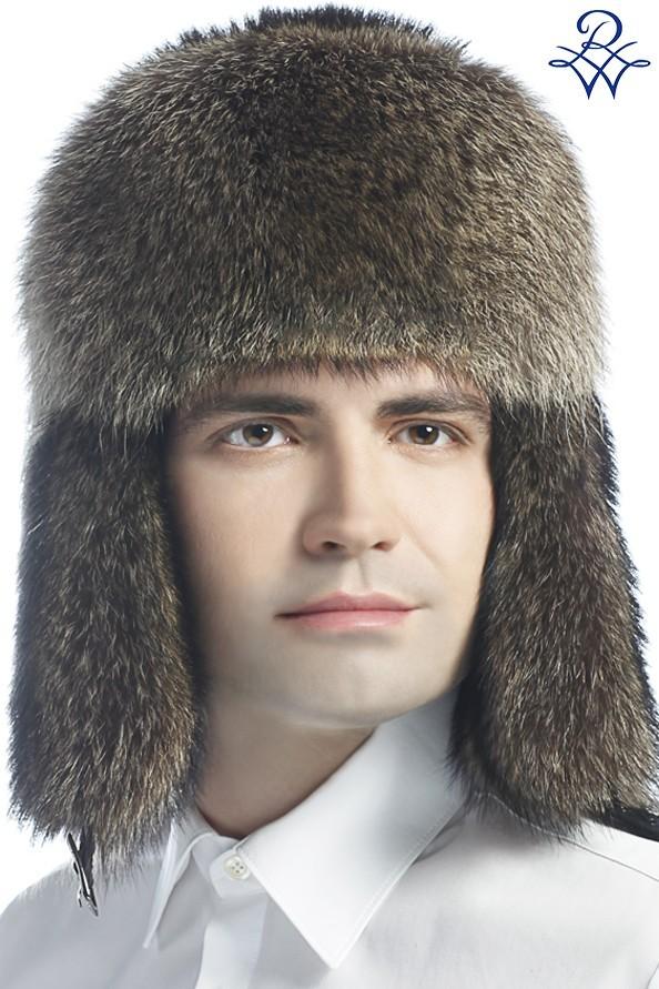 Головной убор меховой мужской 1514 шапка ушанка енот натуральный - купить в  Москве ... 63b6e23b6d481