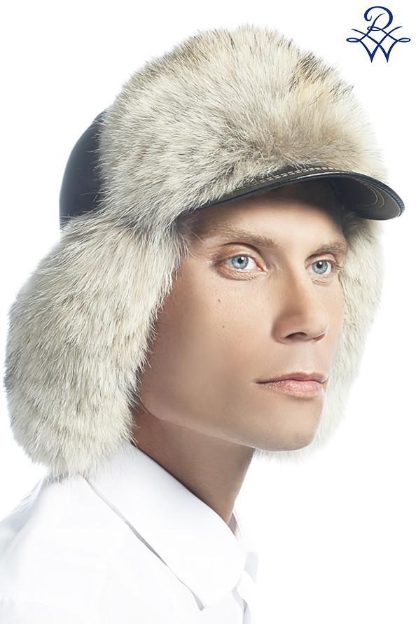 Головной убор меховой мужской шапка ушанка лиса полярная 6d9bcd305e533