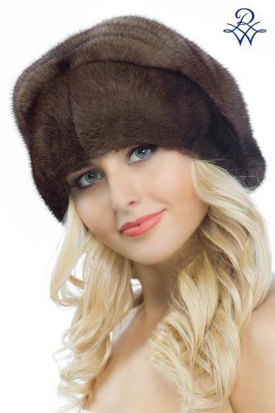 Головной убор меховой женский 2069 шапка Аврора норка демибафф 44ff445033c7f