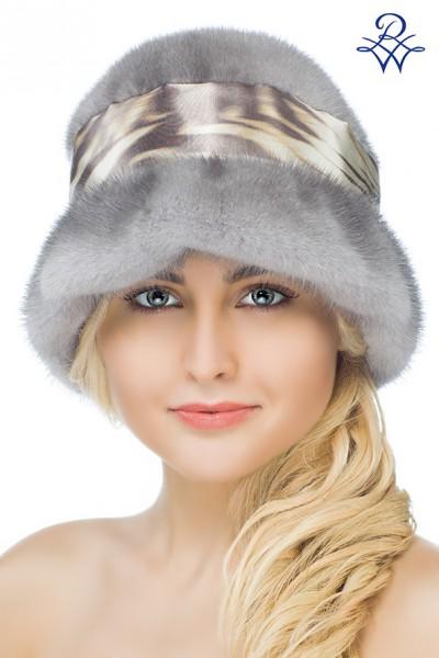 Головной убор меховой женский 26002369 шляпка норка сапфир 7dcca03cdb8ef