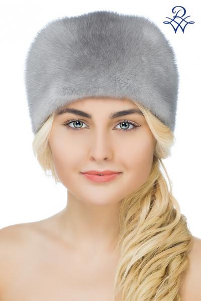 Головной убор меховой женский 1870 шапка Бабочка норка сапфир d64be0eec23b4